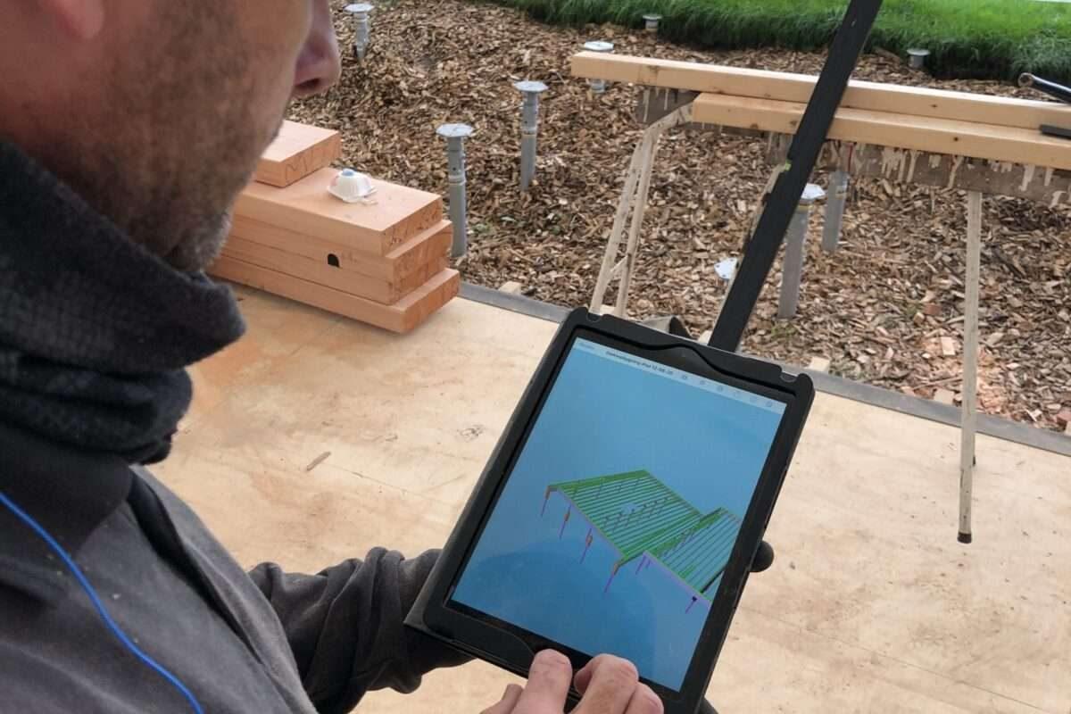 Tømrersvendene anvender 3D visualiseringer af projektet, så den fulde forståelse bedre afspejles i udførelsen af byggeriet